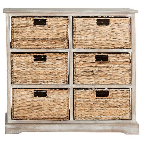 Beau Safavieh Keenan 6 Wicker Basket Storage Chest   8328113 | HSN
