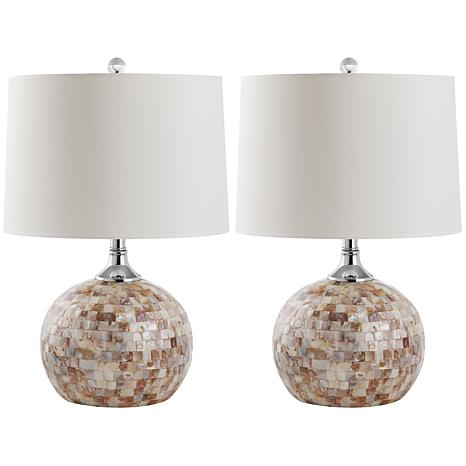 Safavieh set of 2 nikki capiz shell table lamps 22 12 8523055 safavieh nikki capiz shell table lamp 2pk 22 12 aloadofball Images