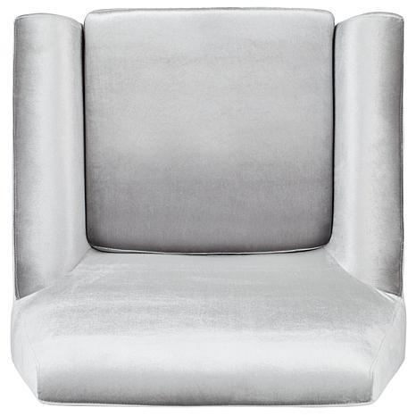 Beau Safavieh Nynette Velvet Retro Mid Century Accent Chair   8445944 | HSN