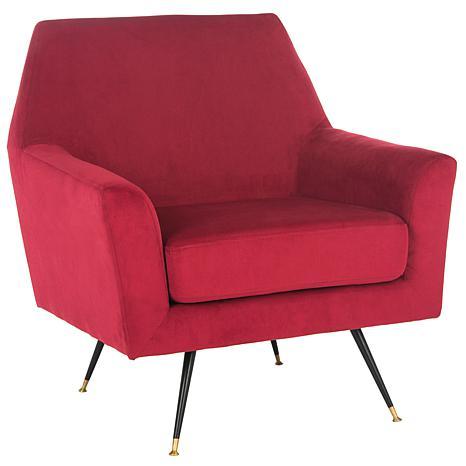 safavieh nynette velvet retro mid century accent chair 8445944 hsn. Black Bedroom Furniture Sets. Home Design Ideas