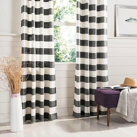 "Safavieh Rafina Window Panel - Gray/White Stripe - 52"" x 96"""