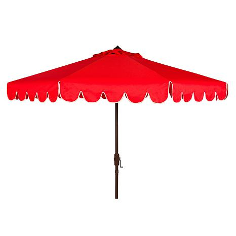 Safavieh Venice Scallop 9' Crank Outdoor Umbrella