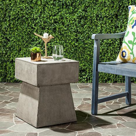 Safavieh Zen Mushroom Concrete Accent Table Gray