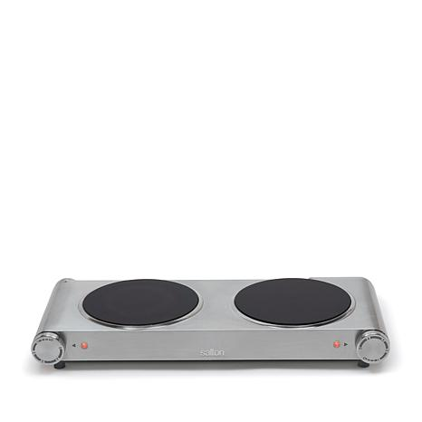 Salton Portable Double Burner Cooktop