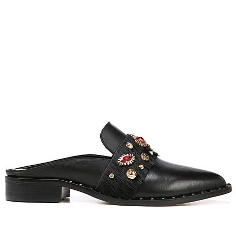 Sam Edelman Laird Leather and Embellished Mule