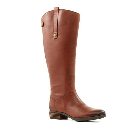 "Sam Edelman ""Penny"" Tall Leather Boot with Wide Shaft"
