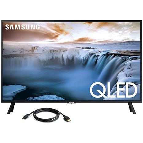 "Samsung 32"" QLED Smart 4K UHD TV with 6' HDMI Cable"