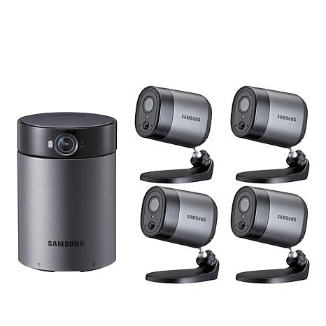 Samsung HD Indoor and 4 Outdoor Security Cameras with Station Hub