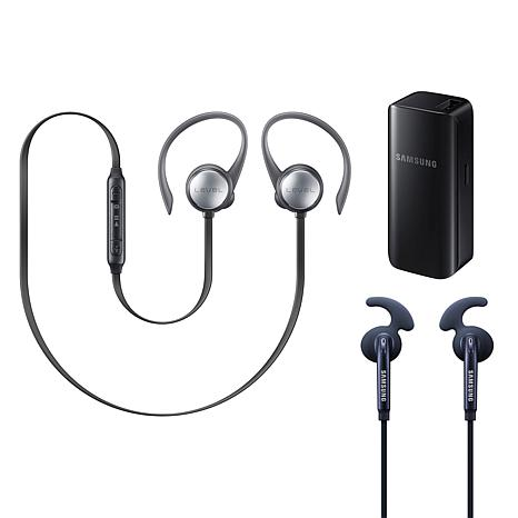 Samsung Level Active Set of Earbuds, Charger & Wireless Headphones