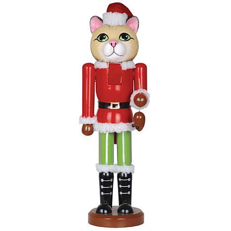 Santa's Workshop 14' Christmas Cat Nutcracker Figurine