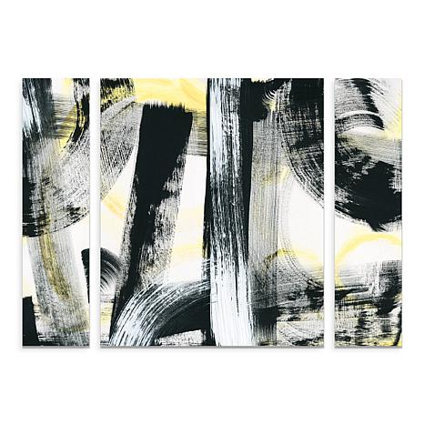 "Schlabach ""LPs in 33 Light Yellow"" Panel Art -30"" x 41"""