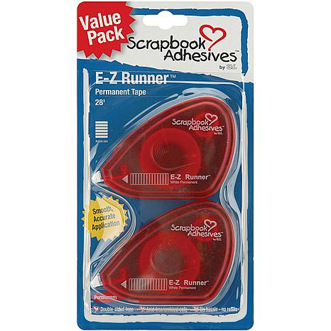 Scrapbook Adhesives E-Z Runner Adhesive 2/Pkg - Permanent, .375X56'...