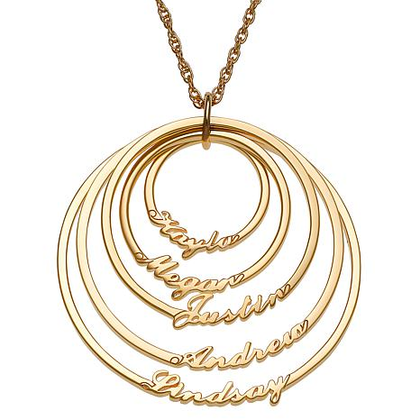 Script 5-Name Circles Necklace