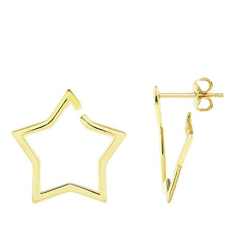 Séchic 14K Yellow Gold Open Star Earrings