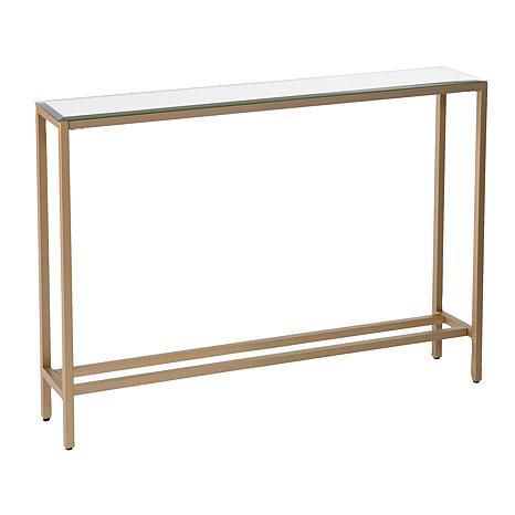 SEI Darrin Metallic Gold Finish Console Table