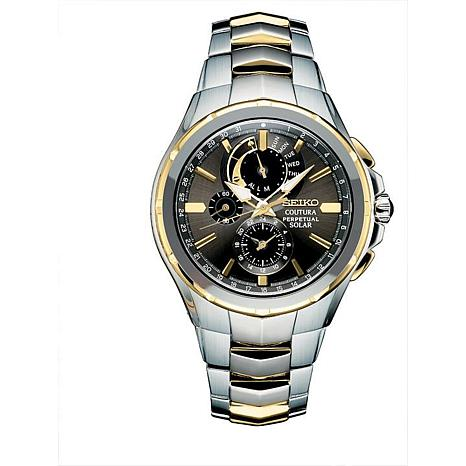 Seiko Men's Coutura Perpetual Two-Tone Stainless Steel Solar  Watch