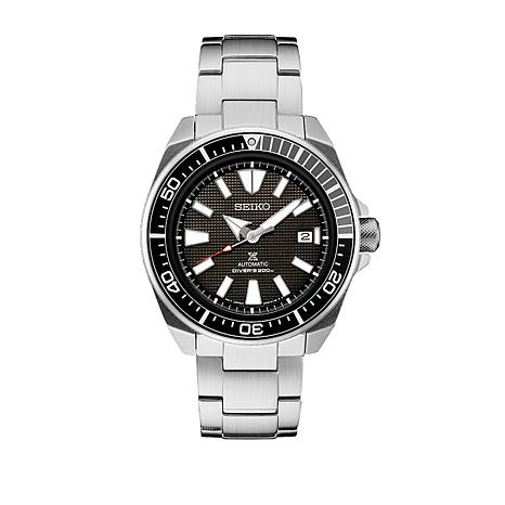 Seiko Men's Prospex Automatic Stainless Steel Black Dial Dive Watch