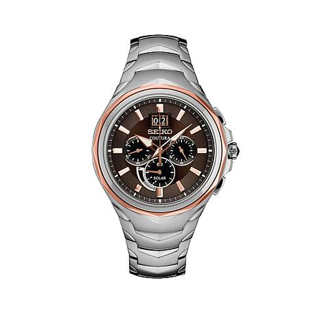 Seiko Men's Rosetone and Silvertone Chronograph Bracelet Watch