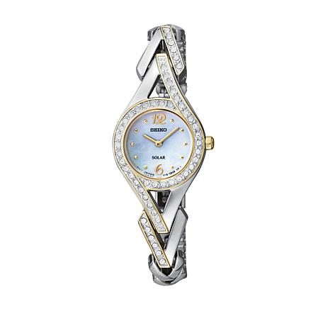 Seiko Women's 2-tone Crystal-Accented Solar-Powered Bracelet Watch