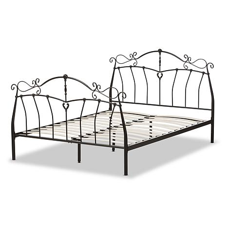 Selena Black Metal Platform Bed