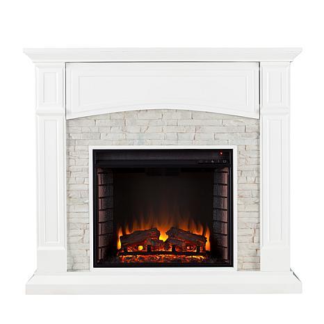 Southern Enterprises Seneca Electric Media Fireplace White With White Faux St 8225165 Hsn