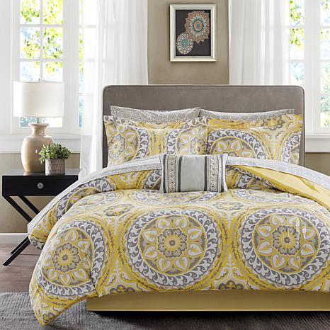 Serenity Cal King 9pc Complete Bed and Sheet Set-Yellow