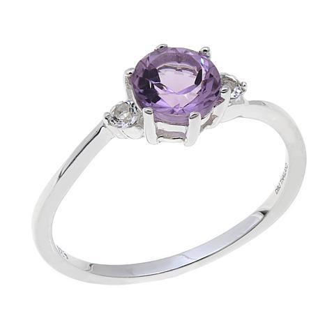 Sevilla Silver™ 0.85ctw Peridot 3-Stone Ring