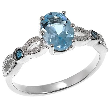 sky wedding quiet topaz rings blue