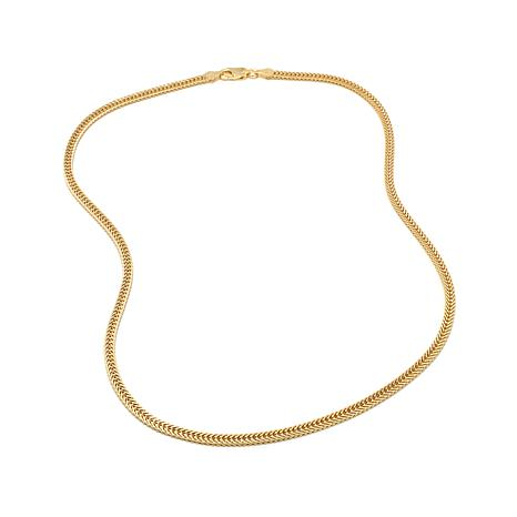 """Sevilla Silver 3.1mm Two-Sided Foxtail Chain 18"""" Neckla"""