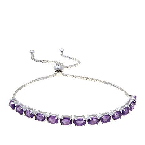 Sevilla Silver™ 4.55ctw Amethyst Adjustable Bracelet