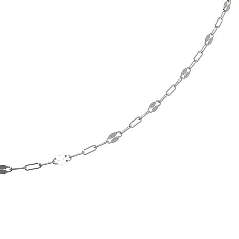 """Sevilla Silver™ 48"""" Oval and Mirror Link Chain"""