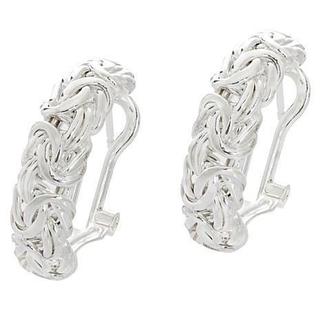 Sevilla Silver™ Byzantine Hoop Earrings