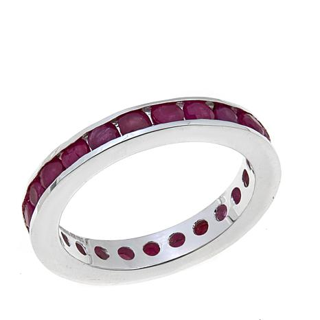 Sevilla Silver™ Channel-Set Ruby Band Ring