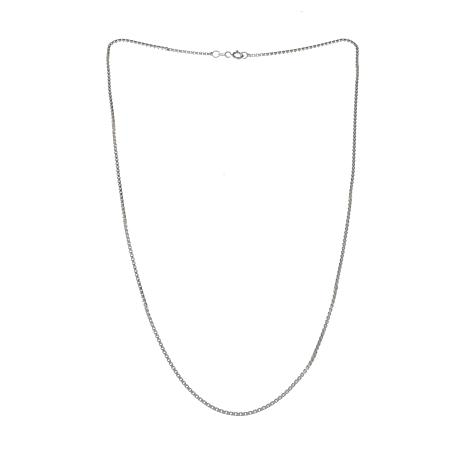 "Sevilla Silver™ Diamond-Cut Box Chain 18"" Necklace"
