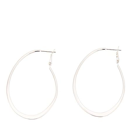 Sevilla Silver™ Flat Oval Hoop Earrings