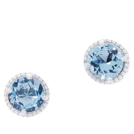 Sevilla Silver™ Gemstone Button Stud Earrings