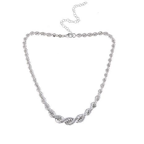"Sevilla Silver™ Graduated Rope Chain 16"" Necklace"