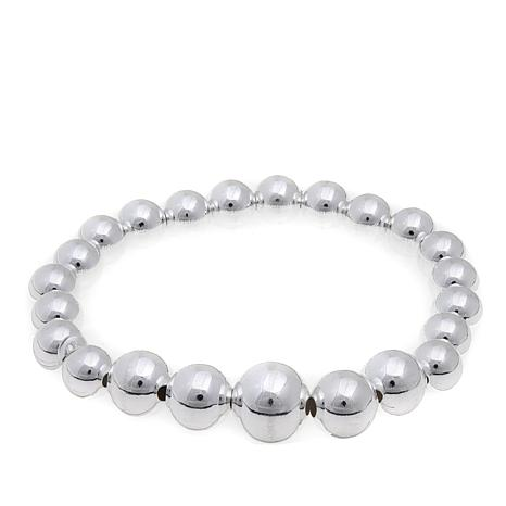 Sevilla Silver™ High-Polish Bold Bead Stretch Bracelet