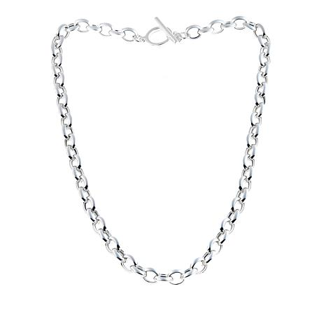 "Sevilla Silver™ Knife-Edge Rolo-Link 18"" Necklace"