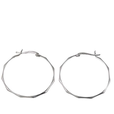 Sevilla Silver™ Large Octagon Hoop Earrings