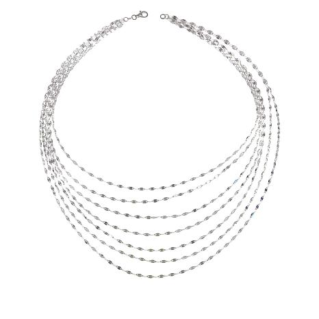 Sevilla Silver Mirror Chain Layered Necklace 8965605 Hsn
