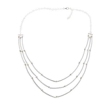 Sevilla Silver™ Multi-Layer Tube and Bead 20 Necklace