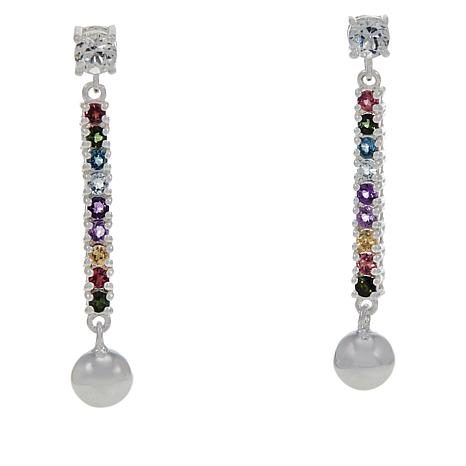 "Sevilla Silver™ ""Prism Collection"" Multigem Drop Earrings"