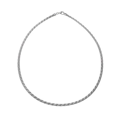 "Sevilla Silver™ Quilted Pattern 17-1/2"" Necklace"
