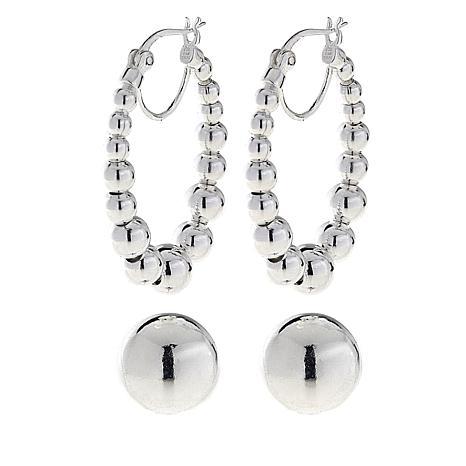 Sevilla Silver™ Set of 2 Bead Earrings