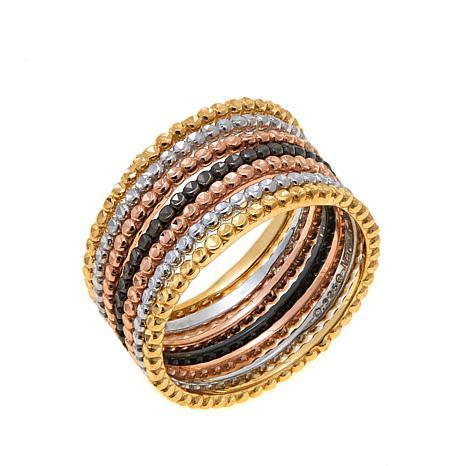 Sevilla Silver™ Set of 7 Stackable Band Rings