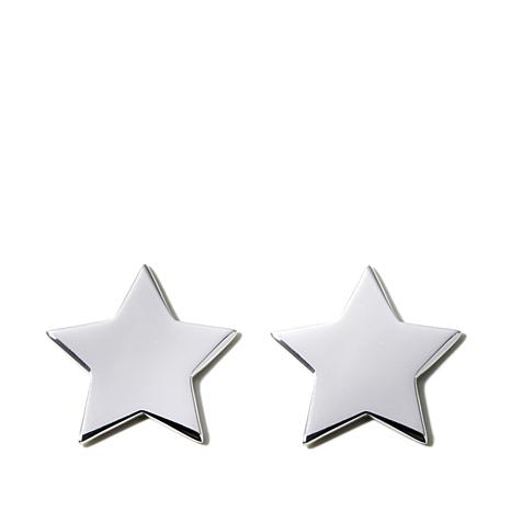 bonas oliver jewellery ju stud earrings silver star
