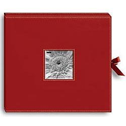 Sewn Leatherette D-Ring Scrapbook Album Box