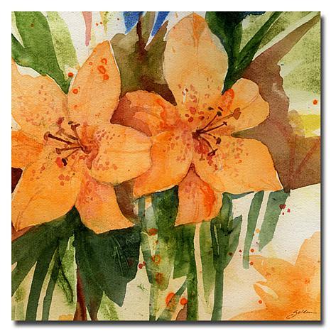 """Sheila Golden 'Tiger Lilies' Giclee Print - 24"""" x 24"""""""