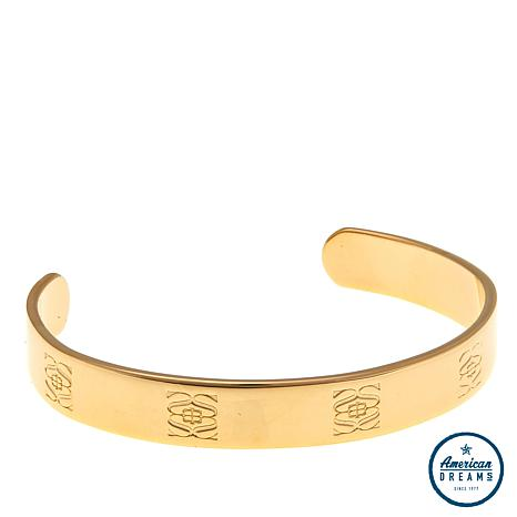 Shelly Brown Engraved Logo Cuff Bracelet